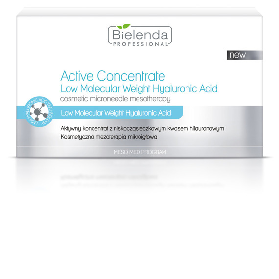 Bielenda Aktywny koncentrat z niskocząsteczkowym kwasem hialuronowym 10x3ml