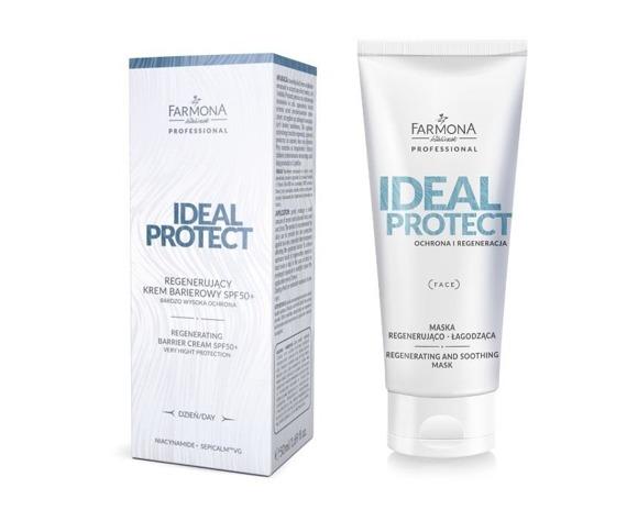 Farmona Ideal Protect Zestaw regenerujący, duet krem i maska