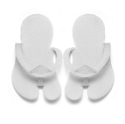 Klapki japonki jednorazowe białe z pianki 10 par